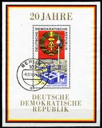 DDR - Michel Block 28 = 1507 - OO Gestempelt (B) - 20 Jahre DDR I