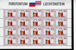 Liechtenstein Kleinbogen 945 - 946 Kulturelle Zusammenarbeit Mit Costa Rica MNH Postfrisch **