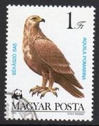 Lesser Spotted Eagle Aquila Pomarina Used Stamp - Eagles & Birds Of Prey