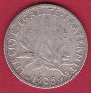 France 1 Franc Semeuse Argent 1905 - H. 1 Franc