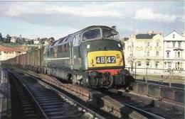 Railway Postcard BR Class 43 D837 Ramillies Dawlish 1963 Warship Diesel Loco - Stations With Trains