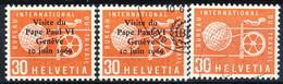 Svizzera BIT 1969 C. 30 Rosso Singolo, Sovrastampato 'Visita Di Paolo VI' MNH E Usato Cat. € 2 - Servizio