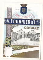 étiquette -couverture Cartonnée Pour Insertion Tarif Courant  Cognac FOURNIER  Excellent état -1920/50 - Whisky