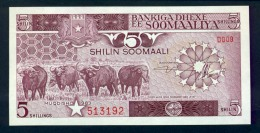 Banconota Somalia 5 Shillings 1982 FDS - Somalia