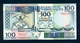 Banconota Somalia 100 Shillings 1987 FDS - Somalia