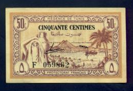 Banconota Tunisia 50 Centimes FDS - Tunisia