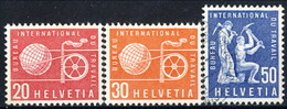 Svizzera BIT 1960 Serie N. 411-413 Mista MNH E Usato Cat. E 1,50 - Servizio