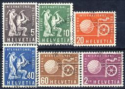 Svizzera BIT 1956 Serie N. 369-374 Usati Cat. € 12 - Servizio