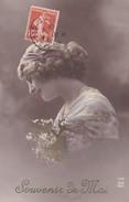 FANTAISIE---souvenir De Mai---jeune Femme + Fleurs-----voir 2 Scans - Femmes