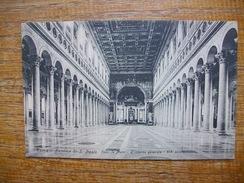 Italie , Roma , Basilica Di S. Paolo , Fuori Le Mura , L'interno Générale