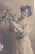 FANTAISIE----diese Blumen Und Nen Kyss Sende Dir Mit ---jeune Femme + Fleurs-----voir 2 Scans - Femmes