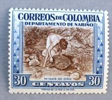 COLOMBIE, COLOMBIA Mineraux,, Or, Orpailleur Yvert N° 522, MNH, Neuf Sans Charniere, ** - Minéraux