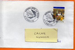 93 ST DENIS   BOUGEZ AVEC LA POSTE ( Pliure )    1986 Lettre Entière 110x 220 N° DD 731 - Postmark Collection (Covers)