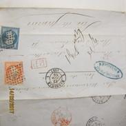 Lettre Avec Correspondance Du 12 Juin 1859