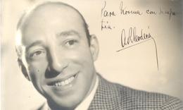 AUGUSTO CODECA CELEBRE ACTOR COMICO FILMS PELICULAS ARGENTINO AUTOGRAFO SOBRE FOTO CIRCA 1938 - Autogramme & Autographen