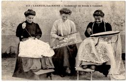 METIERS. ARTISANAT. LUXEUIL-les-BAINS (70) COMMENT ON BRODE à LUXEUIL. 1913. - Artigianato
