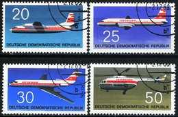 DDR - Michel 1524 / 1527 - OO Gestempelt (A) - Flugzeuge