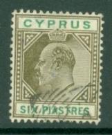 Cyprus: 1904/10   Edward   SG67   6pi     Used - Cyprus (...-1960)