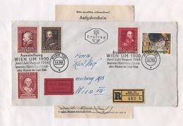 Austria AM79 Cover 1964 Reg Mailing Certificate Exhibition Vienna 5v - Austria