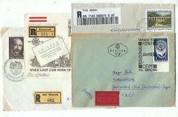 Austria AM60 Cover Registered Express Elbigenalp Apetlon 4 Pcs - Austria
