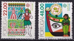 Portugal 1981 Europe CEPT Folklore Complete Set Block Michel 1531 / 1532 MNH