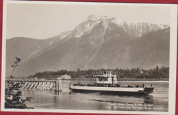 Fraser River Ferry Mount Cheam Near Harrison Hot Springs RARE POSTCARD  British Columbia Canada Photocard Real Photo - Colombie Britannique