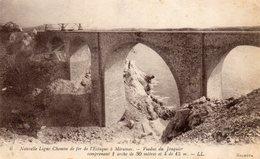 7Mé   13 Estaque à Miramas Nouvelle Ligne Chemin De Fer Le Viaduc Du Jonquier Cachet 16eme Artillerie à Pied Au V° - Other Municipalities