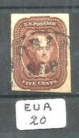 EUA Scott  12 Red Brown Very Fine YT 6 # - Used Stamps