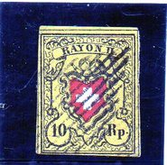 B - Svizzera 1850 - Rayon - Croce - 1843-1852 Poste Federali E Cantonali