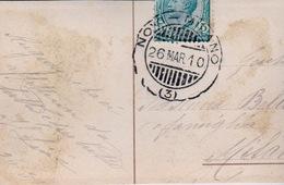 Cachet Postal  MILANO    26 MARS 1910 AVEC TIMBRE SUR CARTES  PETIT FORMAT - Italia