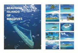 MALDIVES 2016 ** Islands Of Maldives Inseln Der Malediven M/S - IMPERFORATED - A1708