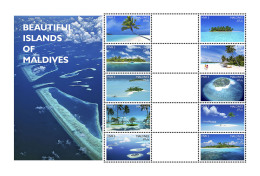 MALDIVES 2016 ** Islands Of Maldives Inseln Der Malediven M/S-ZW - IMPERFORATED - A1708
