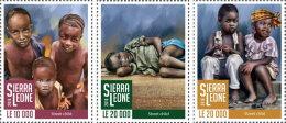 SIERRA LEONE 2016 ** Street Childs Straßenkinder Enfants De La Rue 3v - IMPERFORATED - A1708