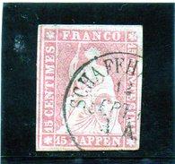 B - Svizzera 1857 - Elvezia Seduta - 1843-1852 Poste Federali E Cantonali