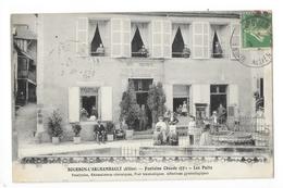 BOURBON L'ARCHAMBAULT  (cpa 03) Fontaine Chaude (53°) Hôtel Des Trois Puits - JOACHIM  -    - L 1 - Bourbon L'Archambault