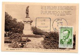 MAINE Et LOIRE - Dépt N° 49 = LIRE 1958 =  CARTE MAXIMUM N° 1166 + DAGUIN  ´ J. Du BELLAY / MUSCADET ´ - 1960-69