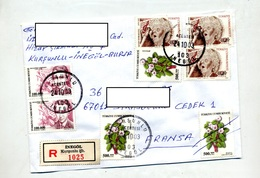 Lettre Recommandee Inegol Sur Fleur Neyzen - 1921-... República