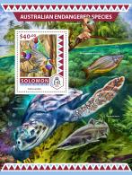 SOLOMON ISLANDS 2016 ** Endangered Species Turtle Schildkröte Tortue S/S - IMPERFORATED - A1708