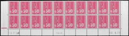 Bas De Feuille De 20 0,50F Béquet TD6-4 13.8.73 (26ème Tirage Cylindre AB) Avec RE