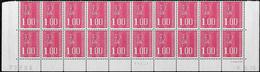Bas De Feuille De 20 1,00F Rouge Béquet TD6-1 9.6.76 1er Tirage Cylindre A