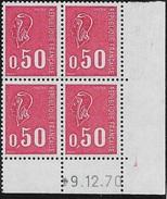 Coin Daté 0,50F Béquet 9.12.70 2ème Tirage Cylindre B
