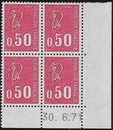 Coin Daté 0,50F Béquet 30.6.71 10ème Tirage Cylindre C (avec =)