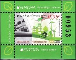 Europa 2016 - Montenegro - Think Green - BF Neufs // Mnh - 2016