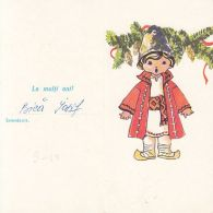 TELEGRAPH, BOY IN FOLKLORE COSTUME, HAPPY NEW YEAR, TELEGRAMME, 1979, ROMANIA - Télégraphes