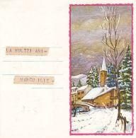 TELEGRAPH, VILLAGE IN WINTER, HAPPY NEW YEAR, TELEGRAMME, 1971, ROMANIA - Télégraphes
