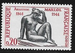 N° 1281   FRANCE - NEUF - CENTENAIRE NAISSANCE SCULPTEUR MAILLOL  - 1961 - Frankreich