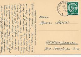 DÜRRMENZ / Mühlacker - 1933 , Eröffnungssitzes Des Reichstages - Friedrich II. - Covers & Documents