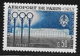 N° 1283   FRANCE - NEUF - INAUGURATION AEROPORT ORLY  - 1961 - Francia