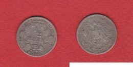 Allemagne  --  1/2 Mark 1905 J  --   état  TB - [ 2] 1871-1918: Deutsches Kaiserreich