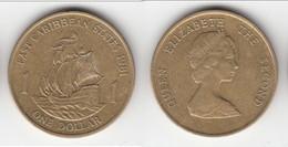 *** ETATS DES CARAIBES DE L´EST - EAST CARIBBEAN STATES - 1 DOLLAR 1981 ELISABETH II **** EN ACHAT IMMEDIAT !!! - Britse Caribische Gebieden